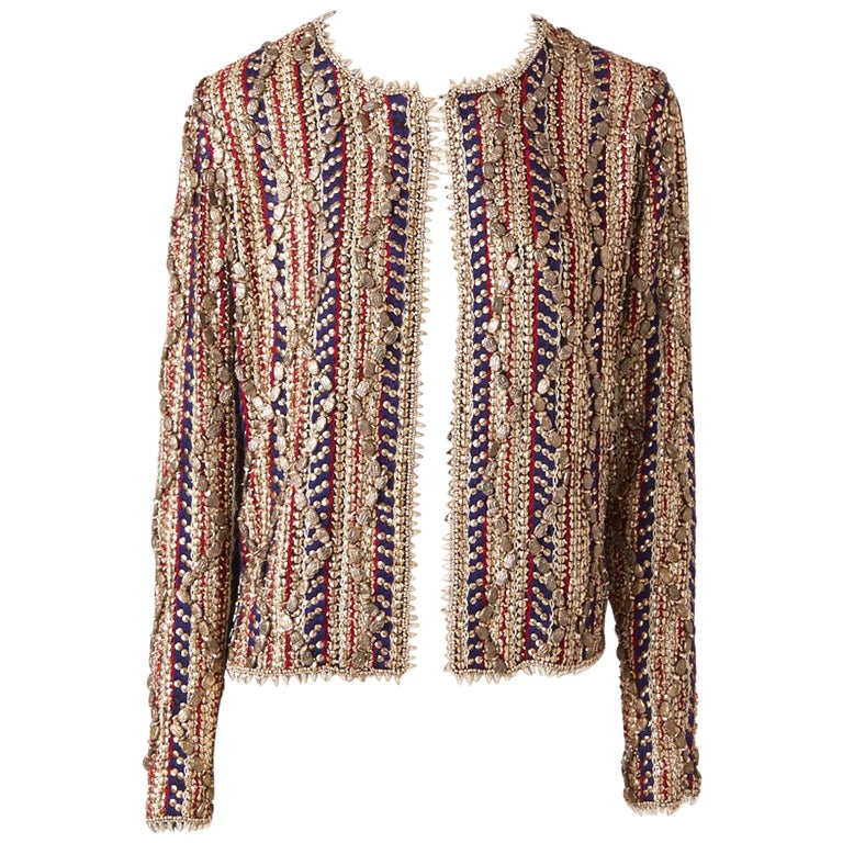 Gianfranco Ferre Beaded Evening Jacket For Sale
