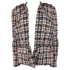 Balmain Multicolored Tweed Blazer Jacket