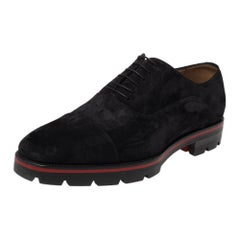 Christian Louboutin Black Suede Hubertus Lace Up Oxford Size 43