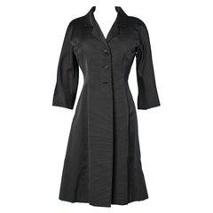 Single breasted black coat Eisa Cristobal Balenciaga