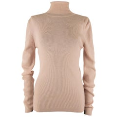 Pink Christian Dior Roll-Neck Sweater