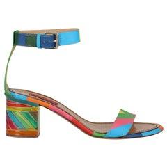 Valentino Women Sandals Multicolor Leather EU 39