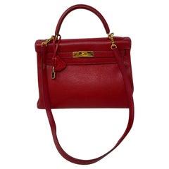 Hermes Kelly 32 Rouge Casaque Bag