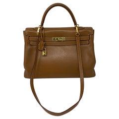 Hermes Gold Kelly 35 Bag