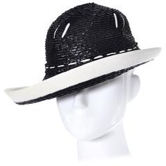 1960s YSL Yves Saint Laurent Vintage Hat Straw