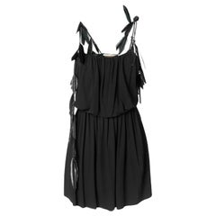 Saint Laurent Black Strappy Mini Dress Size 36