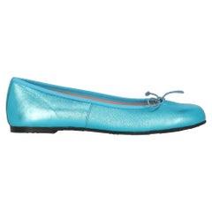 Pretty Ballerinas Women Ballet flats Blue Leather EU 39