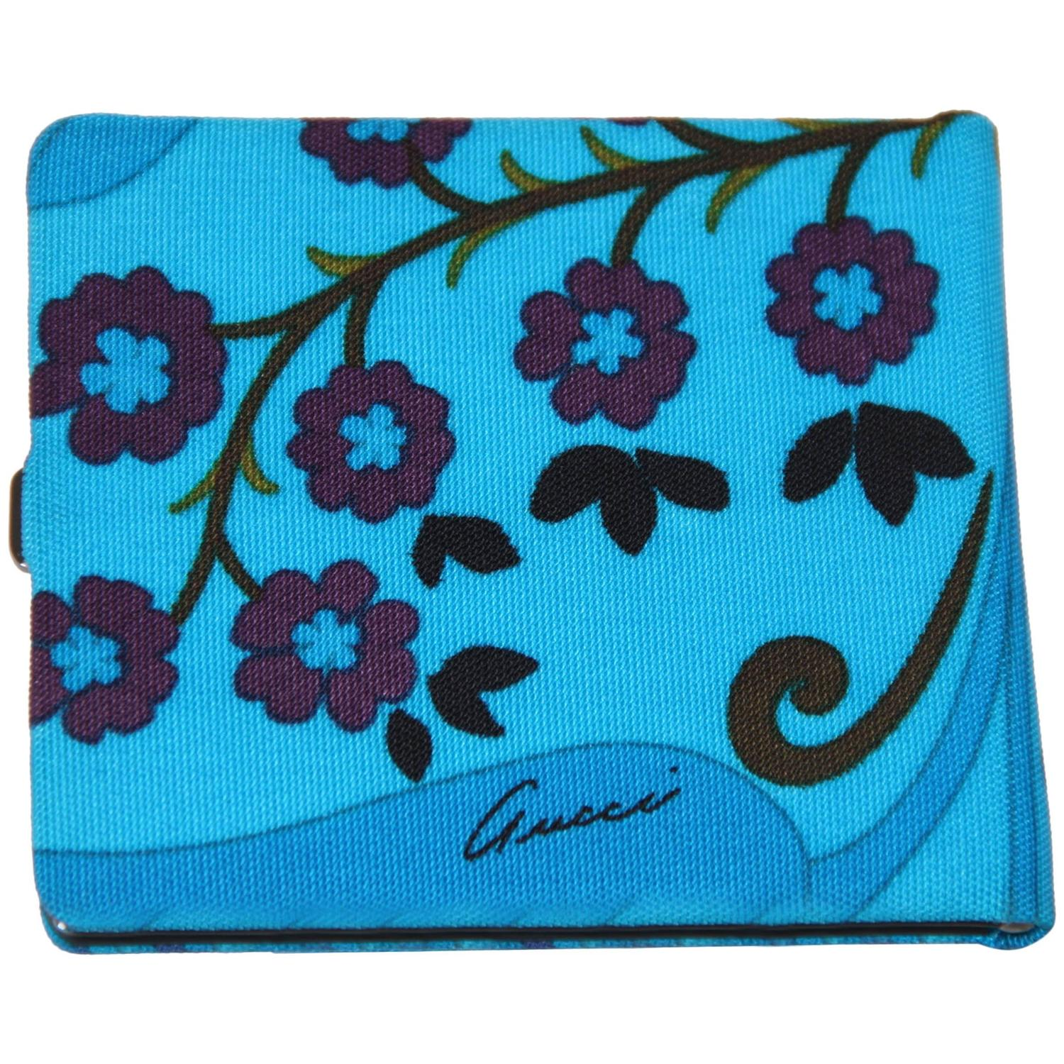 GUCCI Turquoise Canvas CIGARETTE CASE Holder w/ BOX For Sale at ...