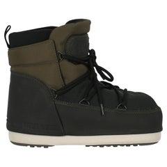 Moon Boot Women Ankle boots Black, Khaki Synthetic Fibers EU 38