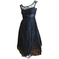 Edward Abbott 1950's A Line Cocktail Dress