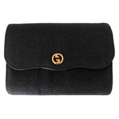 Gucci, Pochette in black canvas