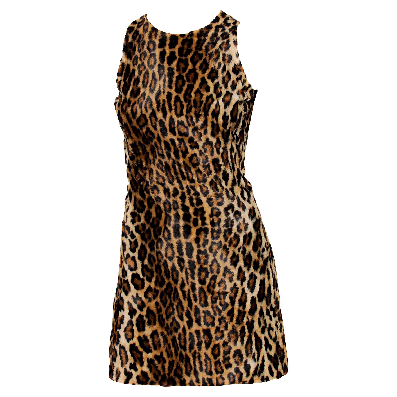 F/W 1994 Gianni Versace Couture Cheetah Print Mini Dress Documented