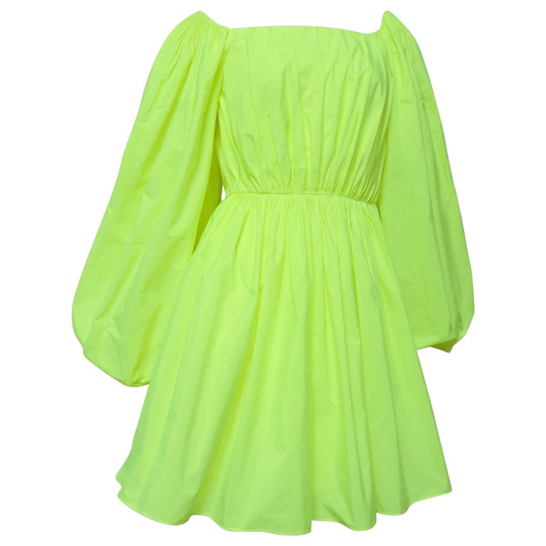 Valentino New Neon Dress For Sale