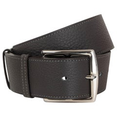 HERMES grey leather ETRIVIER 42mm WAISTE Belt 70 Graphite Clemence