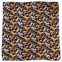 Nicole Miller Silk Jaquard Sweet Tooth Large Carre