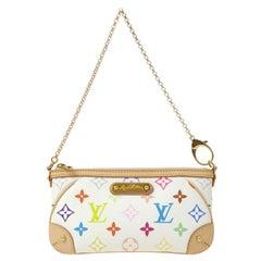 Louis Vuitton Murakami Rainbow Small Evening Top Handle Shoulder Pochette Bag