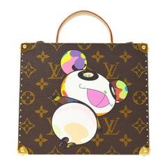 Louis Vuitton Murakami Monogram Small Travel Top Handle Jewelry Trunk Case Bag
