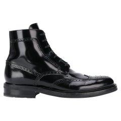 "Saint Laurent Mens ""Army 20"" Black Leather Lace Up Boot Size 41"