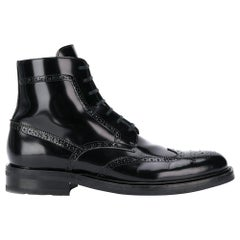 "Saint Laurent Mens ""Army 20"" Black Leather Lace Up Boot Size 43"