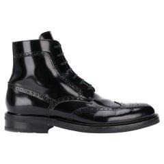 "Saint Laurent Mens ""Army 20"" Black Leather Lace Up Boot Size 44"