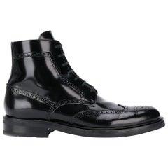 "Saint Laurent Mens ""Army 20"" Black Leather Lace Up Boot Size 45"