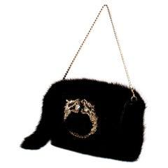 F/W 2004 Gucci by Tom Ford Mink Crystal Dragon Mini Bag