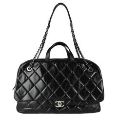 Chanel Black Quilted Calfskin Oversized Bowling Flap Bag