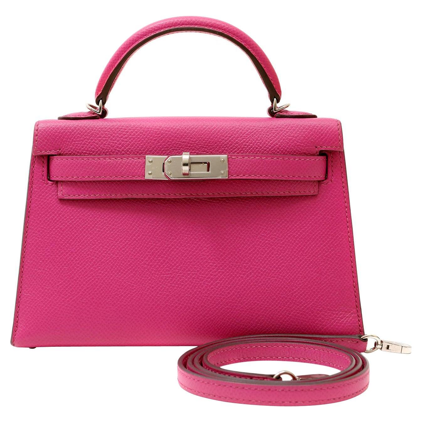 Hermès Shocking Pink Epsom Mini 20 cm Kelly Bag