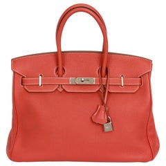 Hermes Birkin 35 Sanguigne Clemence PH Bag