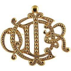 Christian Dior Vintage Insigna Brooch