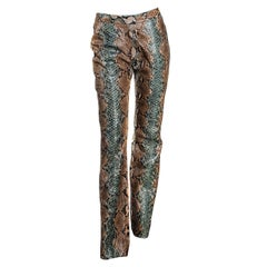 S/S 2000 Gucci by Tom Ford Python Flared Pants