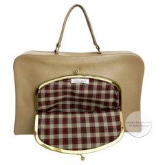 Bonnie Cashin for Coach Bag Attache Tan Leather Cashin Carry Rare Vintage 60s