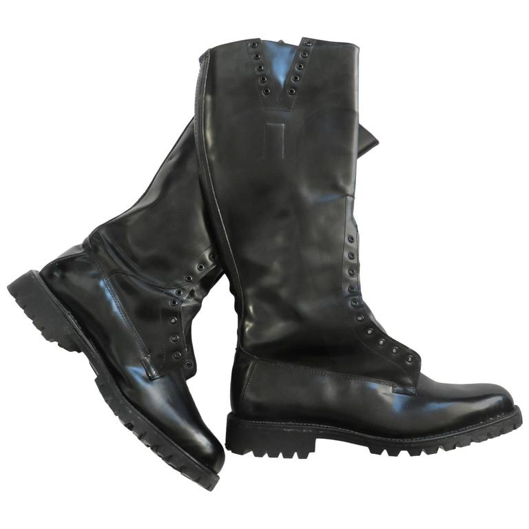 alden men u0026 39 s black leather police officer motorcycle boots at 1stdibs