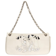 Chanel White Mirror Mosaic Handbag