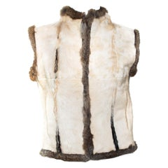 F/W 1999 Gucci by Tom Ford Calf Hair Reversible Rabbit Fur Vest