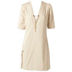 Yves Saint Laurent RIve Gauche Cotton Safari Dress