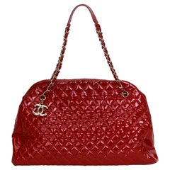 Chanel XXL Red Patent Mademoiselle Bag
