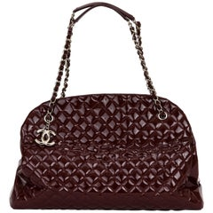 Chanel XXL Burgundy Patent Mademoiselle
