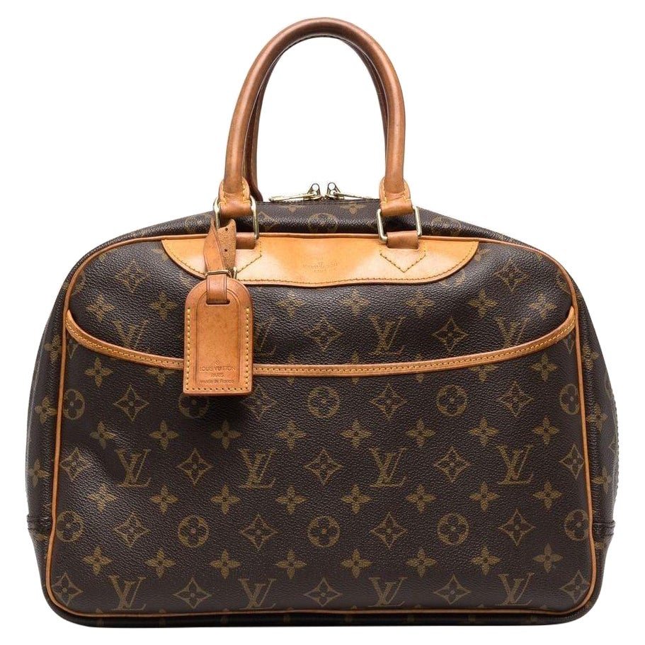 Louis Vuitton Brown Deauville Monogram Top Handle Bag
