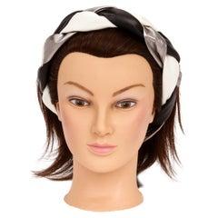 1990's Vintage Chanel Braided Leather Vintage Headband