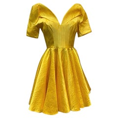 NEW ALEXANDER McQueen YELLOW SHORT DRESS size 40 - 4