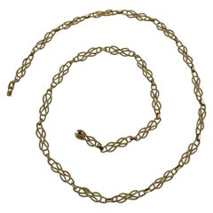 Vintage French Tiffany & Co. Yellow Gold Link Chain Necklace
