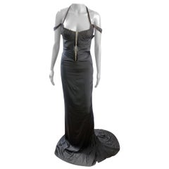 Tom Ford for Gucci F/W 2003 Bustier Corset Silk Evening Dress Gown
