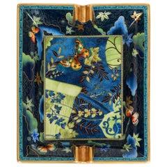 Hermès Porcelain Butterflies Ashtray with Box