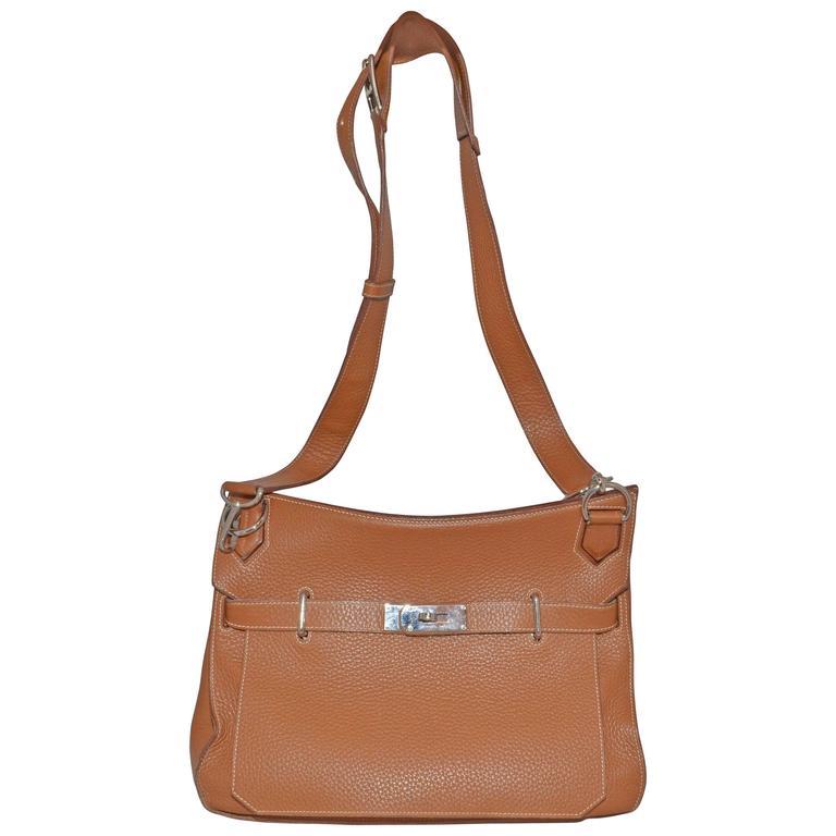 Hermès Gold Jypsiere 34cm Souple Leather Crossbody Bag 1