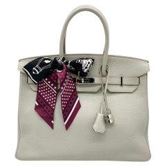 Hermes Pearl Grey Birkin 35