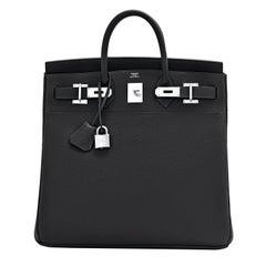 Hermes Birkin 40cm HAC Black Togo Palladium Bag Z Stamp, 2021 ULTRA RARE