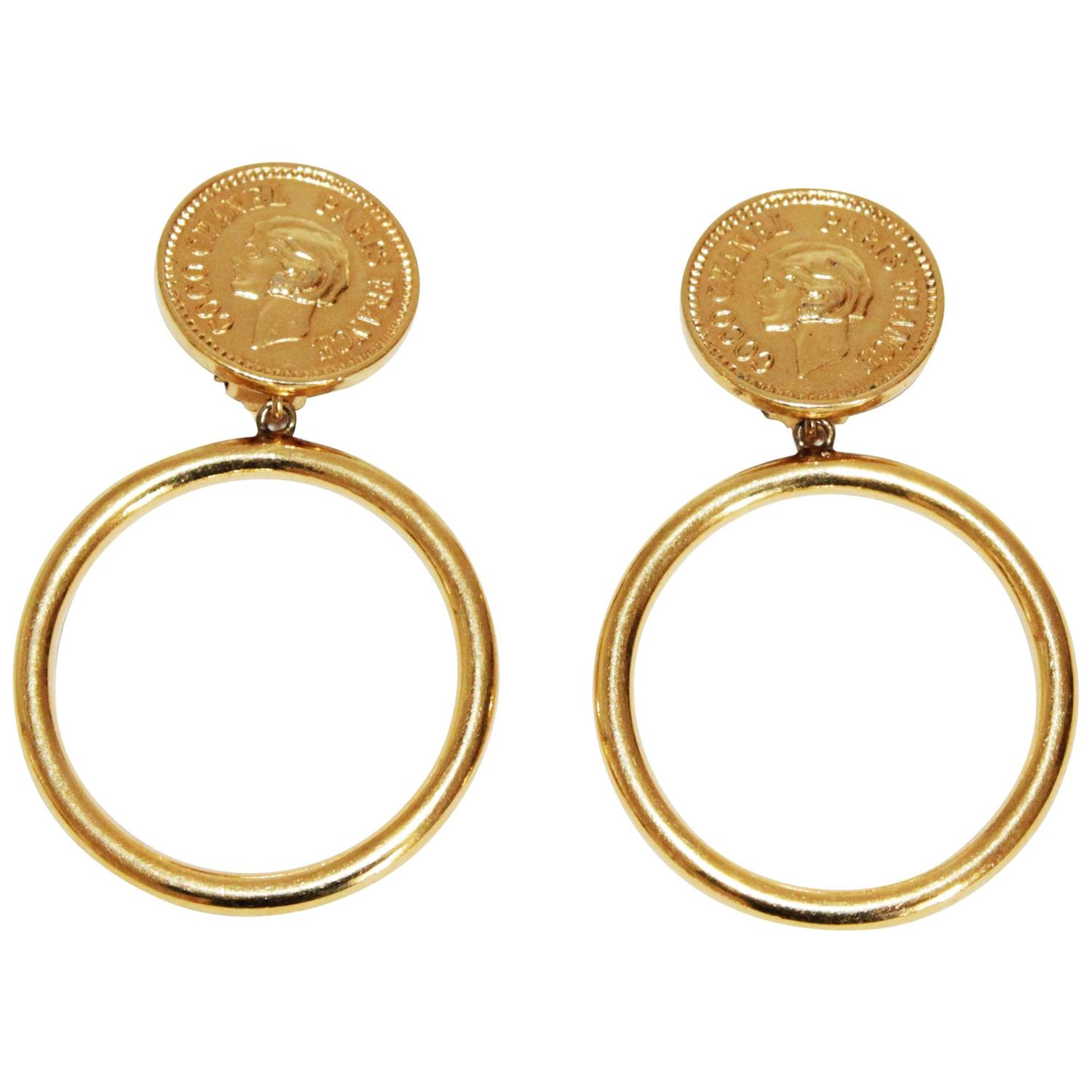 Coco channel earrings : Rare coco chanel haute couture earrings c at stdibs