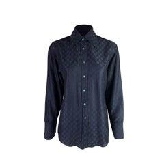 Gucci by Tom Ford Spring 1998 GG Monogram Silk Blend Shirt