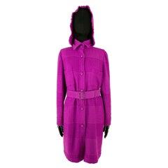 Chanel Autumn 2007 Magenta Tweed Coat